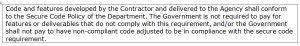 work statement clause chp 3