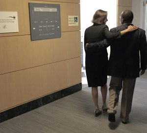 """DeSalvo posted this photo on Twitter. """"Thrilled to make the hand off to @VindellW to lead @ONC_HealthIT as National Coordinator! Great leader and friend."""""""