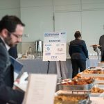 Attendees enjoy a delicious complimetary Wolfgang Puck breakfast and lunch at the Newseum.