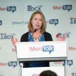 Caroline Boyd, MeriTalk, emcees the fifth annual Cloud Computing Brainstorm.