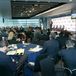 Audience listens intently to DISA's Infrastructure Development Executive, Jack Wilmer, during the morning keynote address