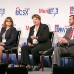Jean Edwards, Director, Business Development & Program Capture, EMC, Federal Sales; Susie Adams, Chief Technology Officer, Microsoft Federal; and Doug VanDyke, General Manager, Public Sector, Amazon Web Services engage with the audience during Q&A