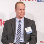 """David Shive, Acting Chief Information Officer, General Services Administration, shares his insight during the """"Shrinking the Footprint"""" panel"""