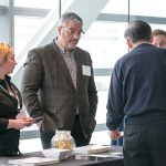Attendees enjoy interacting with exhibitors during networking breaks