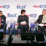 """Next Gen Centers: The Right Stuff"""" panel discussion is lead by moderator Michael Ross, Business Development Public Sector, HP; Kim Hancher, Chief Information Officer, EEOC; and Jim Quinn, Lead System Engineer, NPPD-FNR, DHS"""