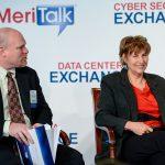 George DeLisle, SAN Federal Sales, Brocade, and Kathie Koenig, Office of Federal Services, NTIS.