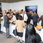 Attendees enjoyed a delicious Wolfgang Puck lunch at the Newseum.