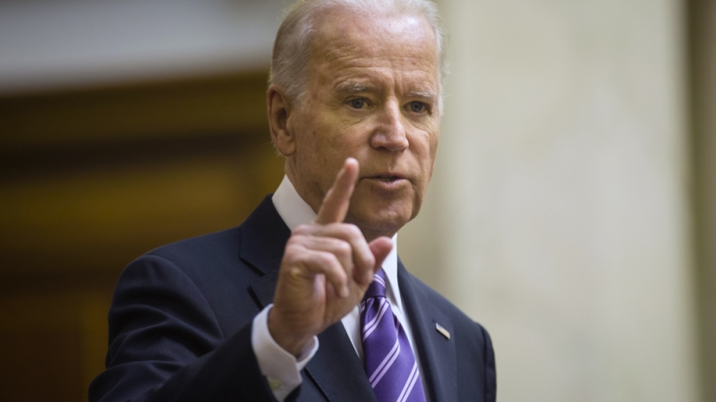 Vice President Joe Biden, shown in Ukraine in 2015, has announced a program aimed at hiring. (Photo: Shutterstock)