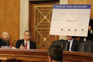 Senator Mark Kirk (R-Ill.) chaired a hearing in March of the Appropriations Subcommittee on Military Construction and Veterans Affairs, and shared the story of an Illinois veteran who took his own life after he was unable to reach the Veterans Crisis Line.