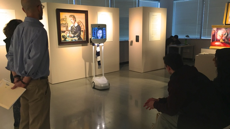 Penn State University is testing Beam robots that allow remote students to participate on campus. (Photo: Penn State)