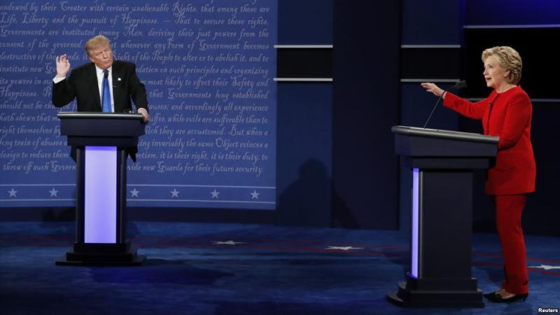 Republican Donald Trump and Democrat Hillary Clinton clash Sept. 26, 2016 at their first presidential debate. (Photo: flickr)