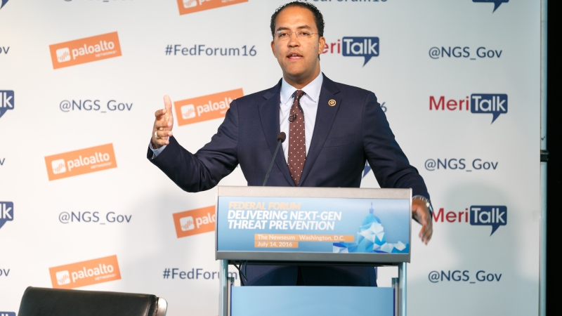 Rep. Will Hurd delivers the congressional keynote at MeriTalk's Palo Alto Networks Federal Forum on Sept. 2, 2016. (Photo: MeriTalk)