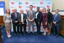 FITARA Awards 2019 - Caroline Boyd, Congressman Gerald Connolly, Jon Cordova, Ed Simcox, Freda Bredy, Amy Haseltine, Robin Collins, John Shimabukuro