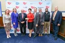 FITARA Awards 2019 - Caroline Boyd, Suzette Kent, Congressman Gerald Connolly, Maria Roat, Guy Cavallo, Sanjay Gupta, Nagesh Rao, Russ Miller